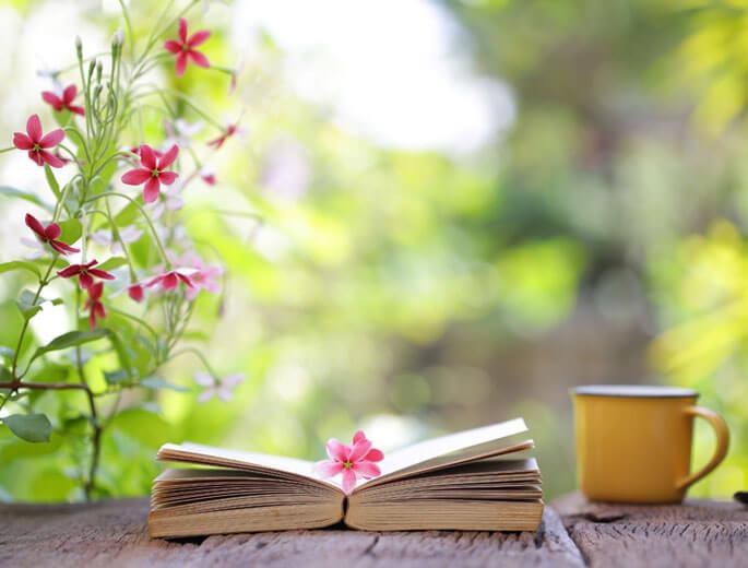 Buch mit Blume