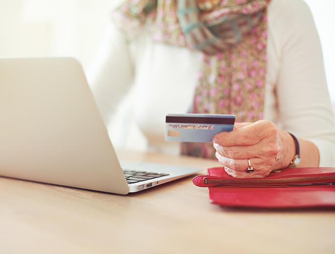 Online bezahlen mit Kreditkarte