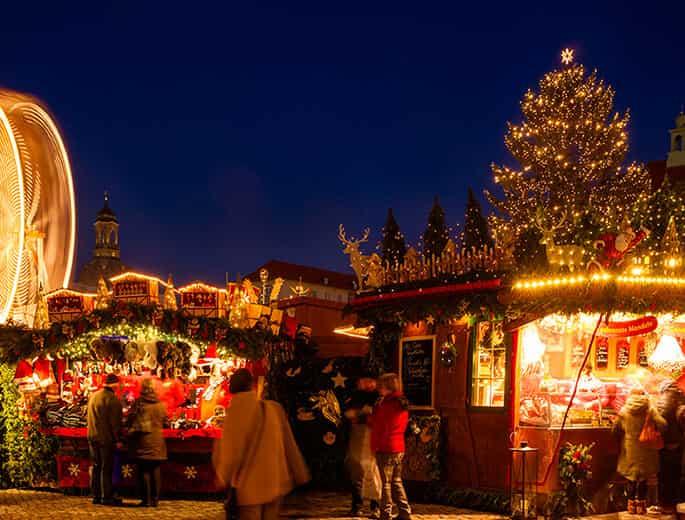 Romantische Weihnachtsmarkstimmung