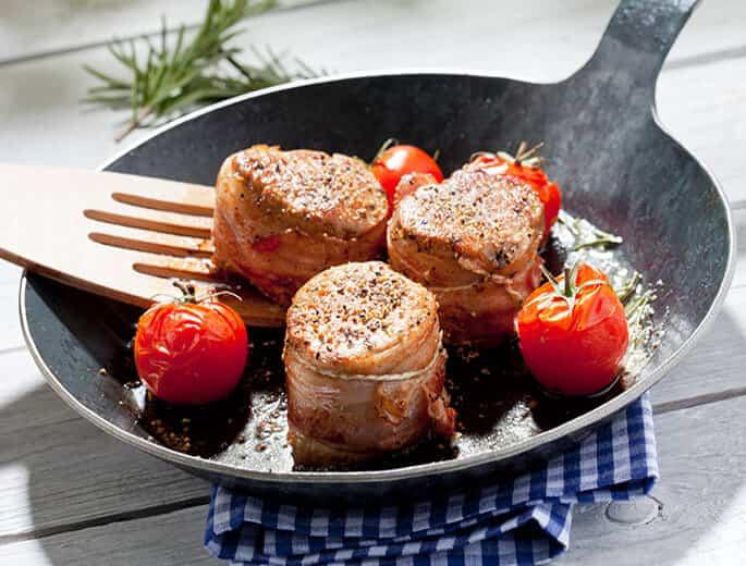Schweinemedaillons mit Bacon