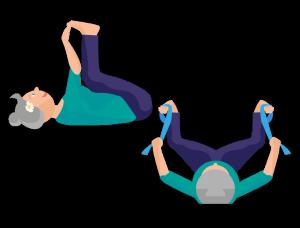 Yoga Übung Glückliches Kind