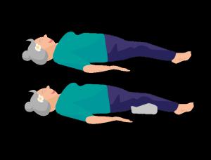 Yoga Übung liegende Pose