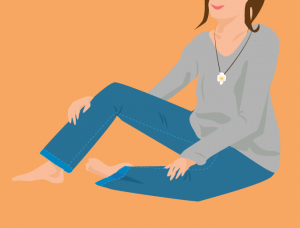 Lässig und schick mit einer Jeans