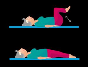 Bauchübung Knieheben