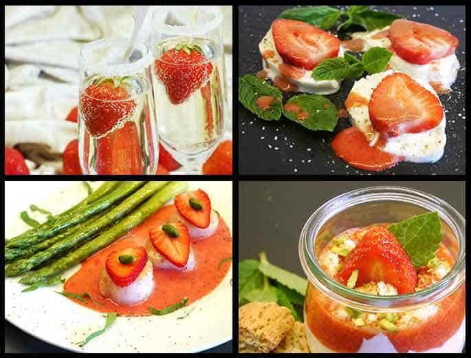 Erdbeermenü