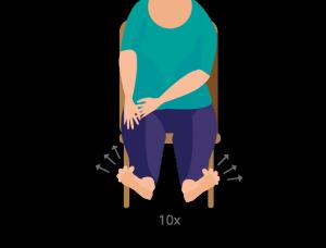 Fußübung Zehen strecken