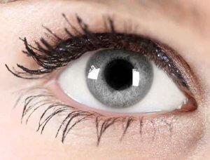 Graublaue Augen