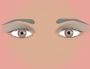 Lidschatten weit stehende Augen