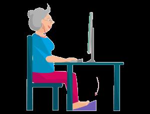 Körperhaltung richtiges Sitzen