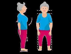 Körperhaltung richtiges Stehen