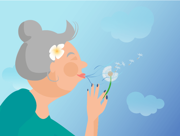 Richtige Atmung Pusteblume