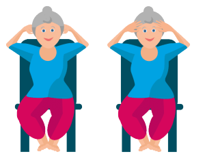 Nackenübungen Stirn und Hinterkopf