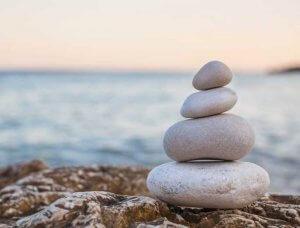 Minimalismus gestapelte Steine