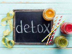 Basenfasten Detox-Kur Tafel mit Maßband