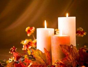 Herbst Dekoration Kerzen
