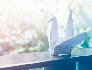 Ungewöhnliche Hobbies Origami Vogel