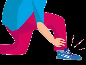 Entlastung der Knie richtige Schuhe