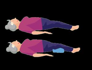 Gute-Nacht-Yoga liegende Pose