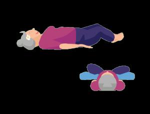 Gute-Nacht-Yoga gebundener Winkel