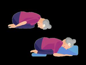 Gute-Nacht-Yoga Kind Pose