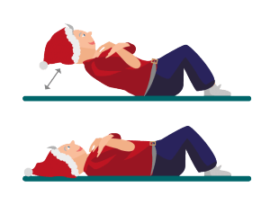 Weihnachts-Workout Crunches