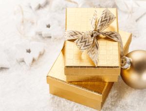 Geschenkverpackungen Goldenes Geschenk