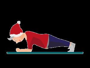 Weihnachts-Workout Plank