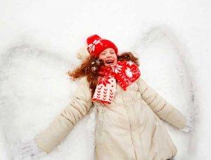 Schnee-Aktivitäten Schnee-Engel