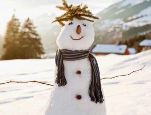 Schnee-Aktivitäten Schneemann