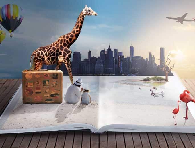 Traumdeutung Verschiedene Tiere und Stadtbild
