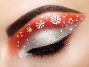 Festliches Styling weihnachtliches Augen-Make-up