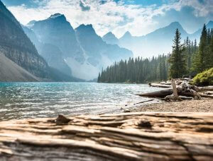 Kanada Moraine Lake mit Rocky Mountains