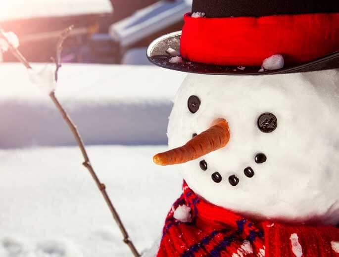 Schneemann Gesicht