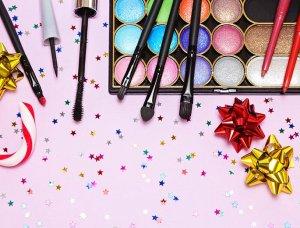 Silvester-Styling Buntes Make-up