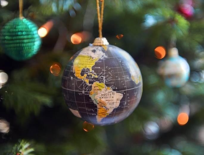 Weihnachten Weltkugel Tannenbaum-Schmuck