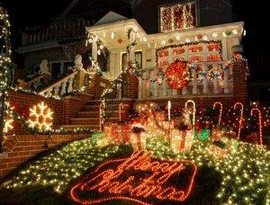 Weihnachten Dekoriertes Haus