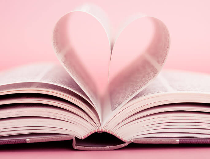 Buchverlosung Buch mit Herzseiten