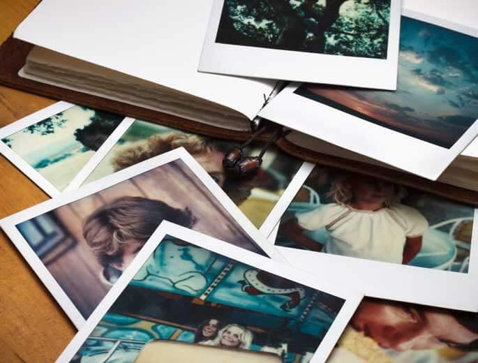 Fotoalbum mit Bildern