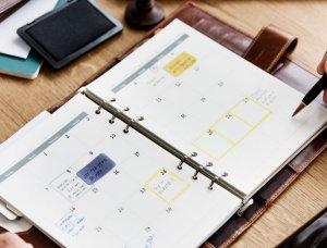 Taschenkalender mit Terminen