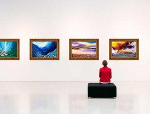 Kunst Bildergallerie im Museum