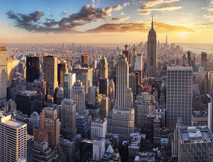New York bei Sonnenaufgang