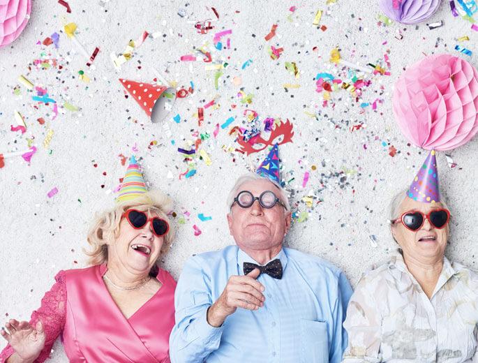 Menschen auf Party