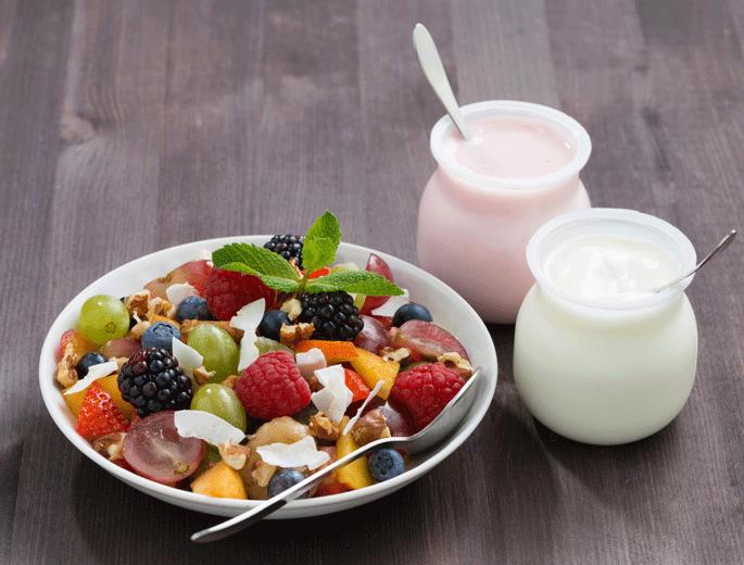 Obstsalat mit Joghurt
