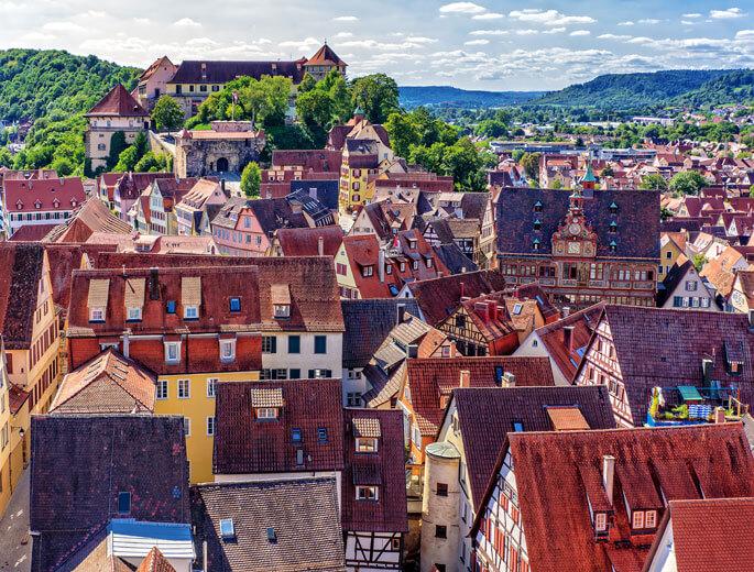 Dächer Tübingen Altstadt