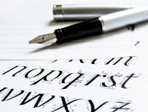 Füllfeder mit Kalligraphie