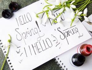 Hello Spring Kalligraphie
