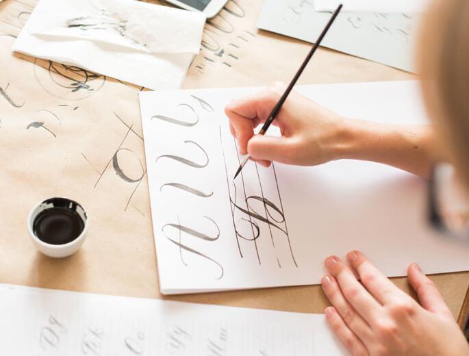Kalligraphie auf Papier