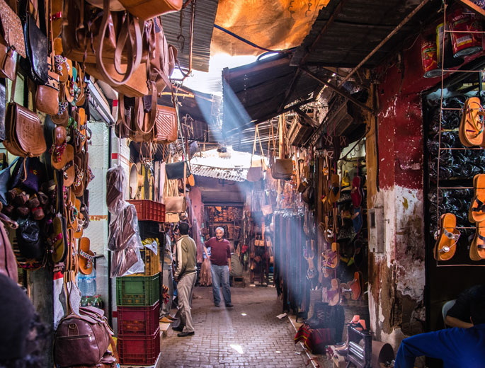 Souks in Marrakesch