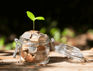 geldgeschenk muenzen in glas
