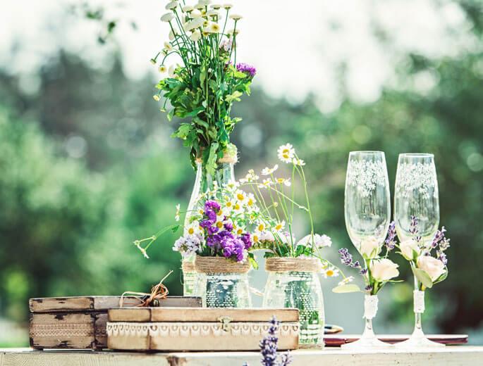Sommer Tisch-Deko